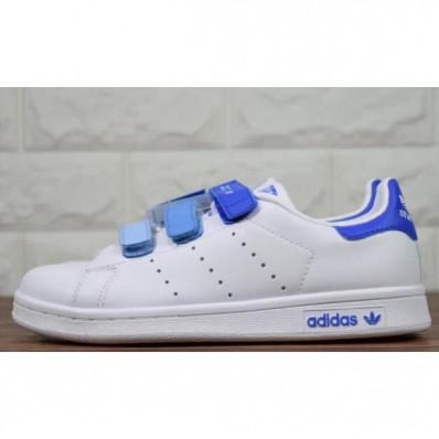 Adidas Originals stan smith Velcro Degrade Bleu Blanc Adidas